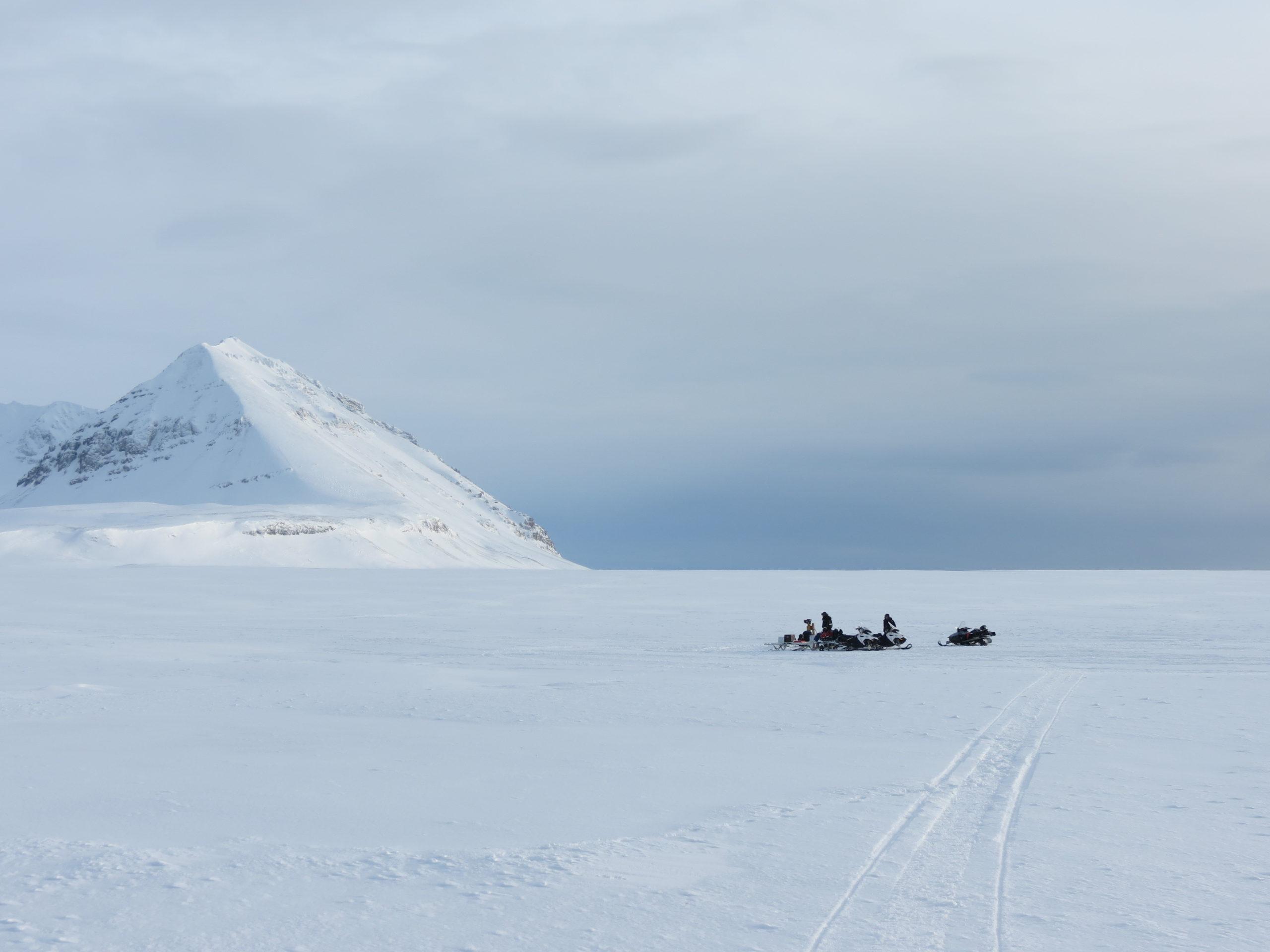 Drilling permafrost in Svalbard